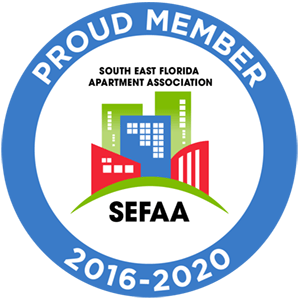 South East Florida Apartment Association Member 2016-2020 badge